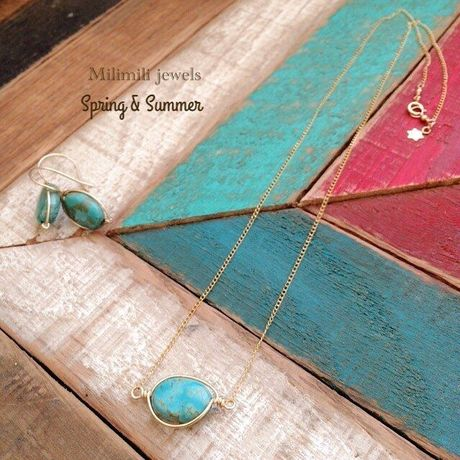 Turquoise flaming necklace