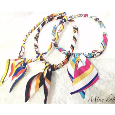 scarf ribbon magnet necklace