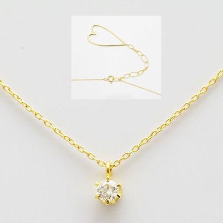 25%off K10 0.1ct ダイヤモンド ハートテイル ネックレス mino by emoease 【SALE】
