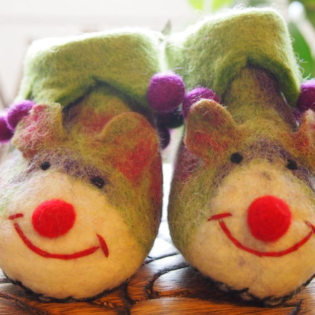baby shoes  - mouse - yellow green -