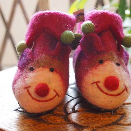 baby shoes  - mouse - pink purple -