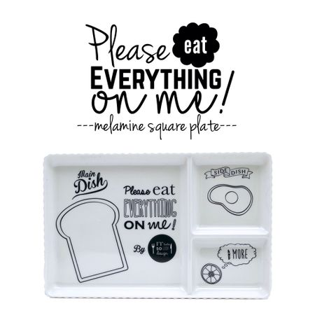 【 Please eat everything on me!】melamine square plate