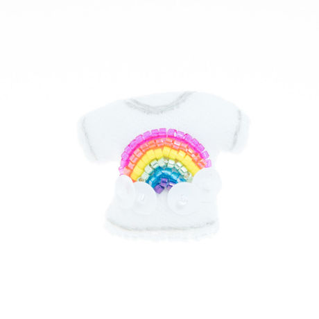 Miniature T-shirt Brooch(rainbow)
