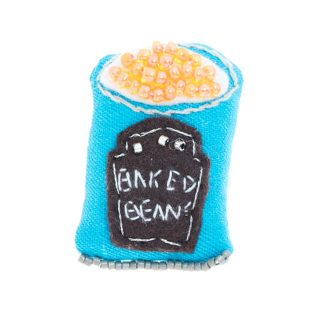 Baked Beans Brooch