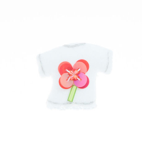 Miniature T-shirt Brooch(flower)