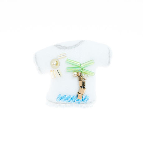 Miniature T-shirt Brooch(island)