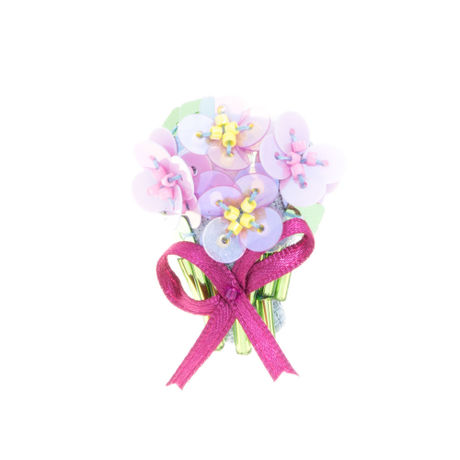Miniature Bouquet Brooch(pink)