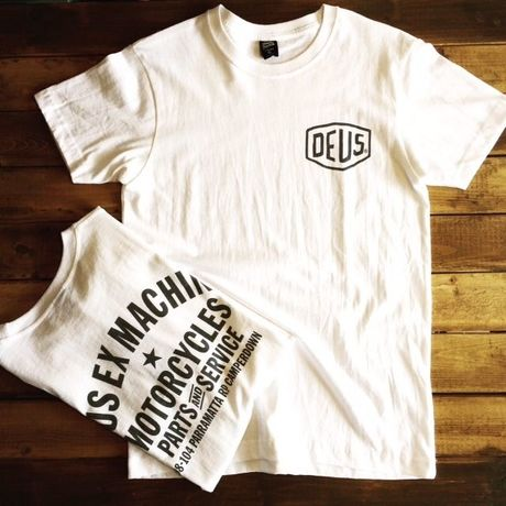 """【DEUS】CAMPERDOWN ADDRESS TEE  ""WHITE"""""""