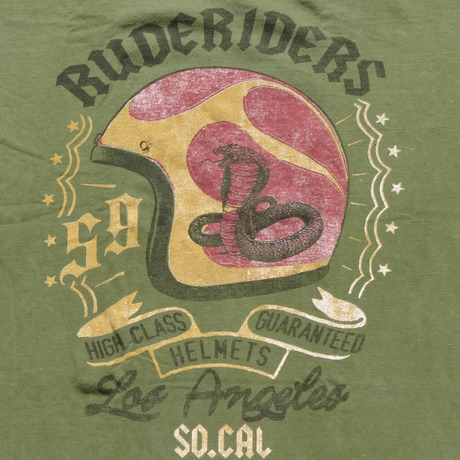 HELMET T-Shirt GREEN  [RUDERIDERS]