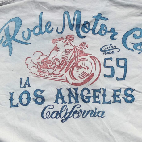 RUDERIDERS RUDE MOTOR Co.T-Shirt WHITE
