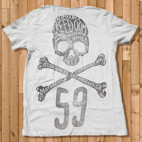 LA FREEDOM T-Shirt WHITE  「RUDERIDERS]