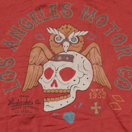 LA MOTOR CO. T-Shirt RED  [RUDERIDERS]