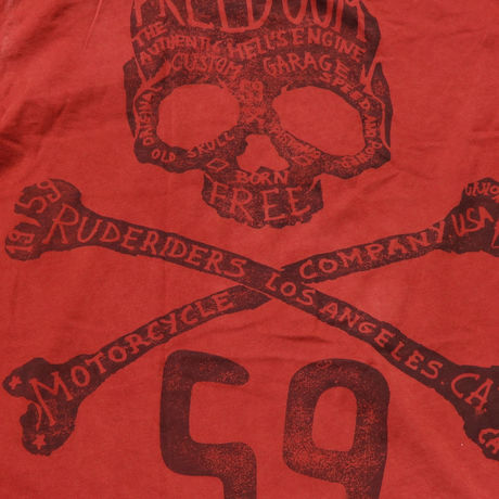 LA FREEDOM T-Shirt RED  [RUDERIDERS]