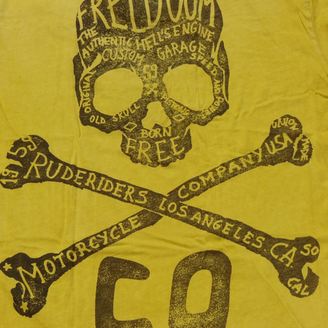 LA FREEDOM T-Shirt YELLOW  [RUDERIDERS]