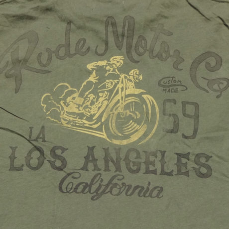 RUDE MOTOR Co.T-Shirt GREEN