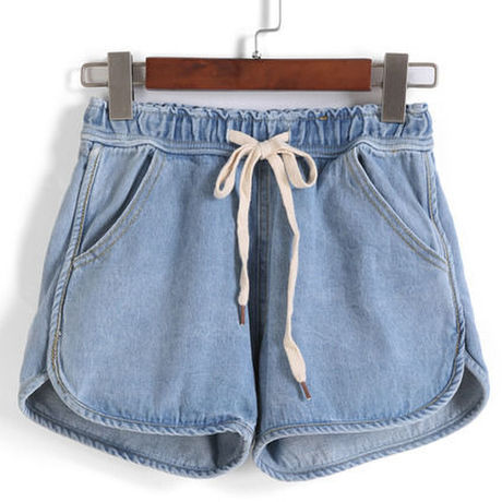 【MVN select】格安★Drawstring With Pockets Denim Shorts
