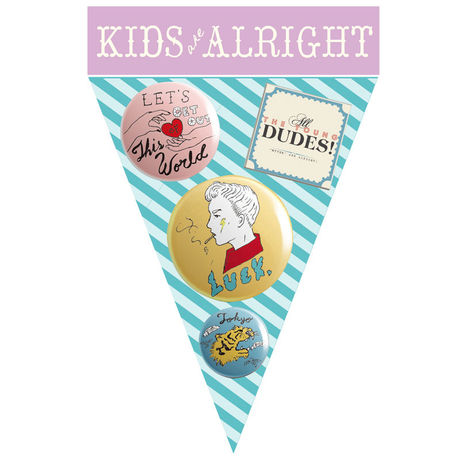 """KIDS ARE ALRIGHT Button Badges""""BOY"""""""