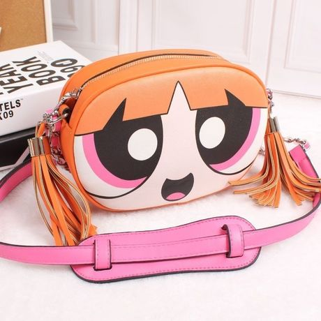 【Excellent Quality!!高品質】Power Puff Girls  Viny  Shoulder Bag (パワーパフガールズ ショルダーバッグ)