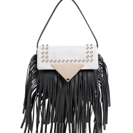 Mini Fringed Leather Shoulder Bag (ミニフリンジバッグ) /SARA BATTAGLIA