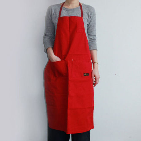 05 4POCKET CANVAS FULL APRON_RED