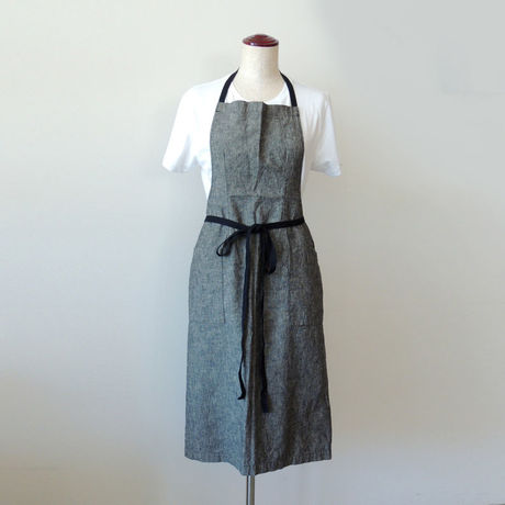 【新商品】15 EURO FARM FULL APRON_BLACK