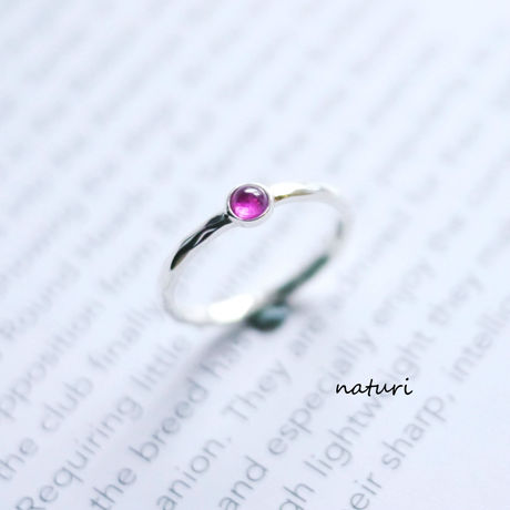 【tronc】pink sapphire sv925 ring (order)