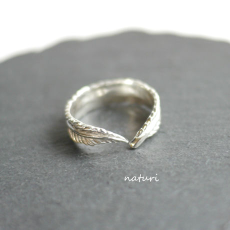 【plume】feather sv925 ring