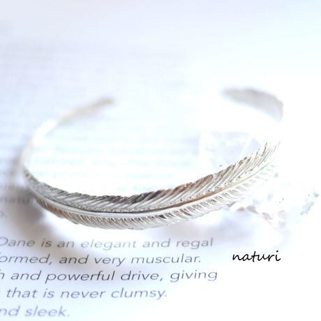 【plume】feather sv925 bangle