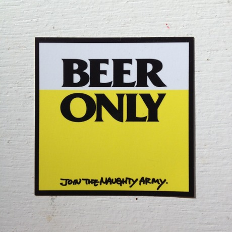 BEER ONLY STICKER