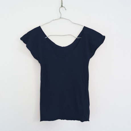 """""""PITATTO""""U-NECK T / LOGWOOD NAVY"""