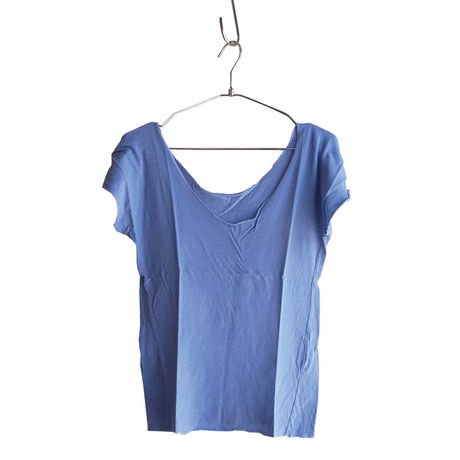 """""""PITATTO""""U-NECK T / BLUEBERRY BLUE"""