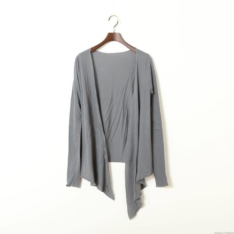 """""""PITATTO"""" CARDIGAN / CHARCOAL GRAY"""