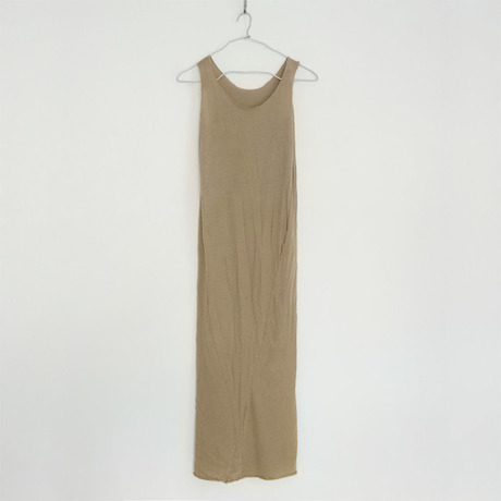 """""""PITATTO"""" TANKTOP ONE PIECE / GINGER BEIGE"""
