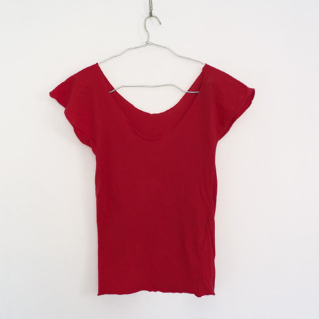 """""""PITATTO""""U-NECK T / ROSE RED"""