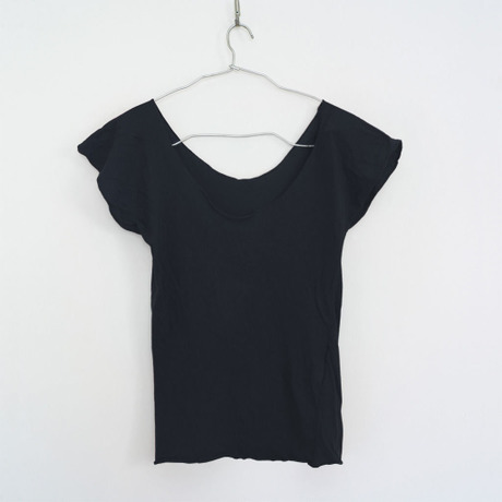 """""""PITATTO""""U-NECK T / STONE BLACK"""