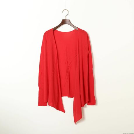 """""""PITATTO"""" CARDIGAN /ROSE RED"""
