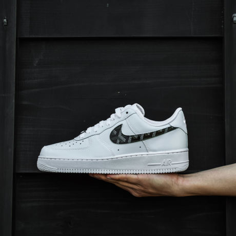 GOYARD (ゴヤール) Pattern NIKE AIR FORCE 1 Custom  VERSION 3  BLACK SWOOSHES