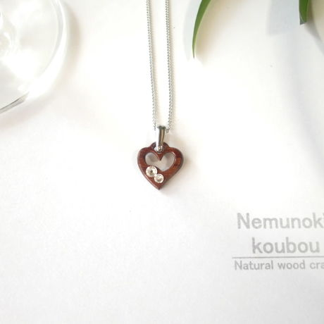 Timber  necklace (Swarovski)「Heart」