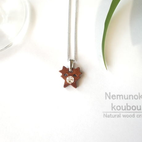 Timber  necklace (Swarovski)「Stars」