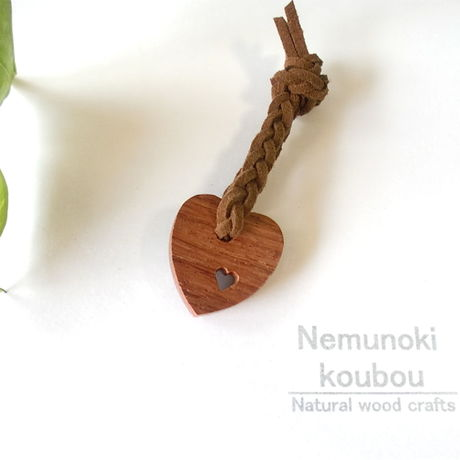 Wood charm 「Lovely Heart」