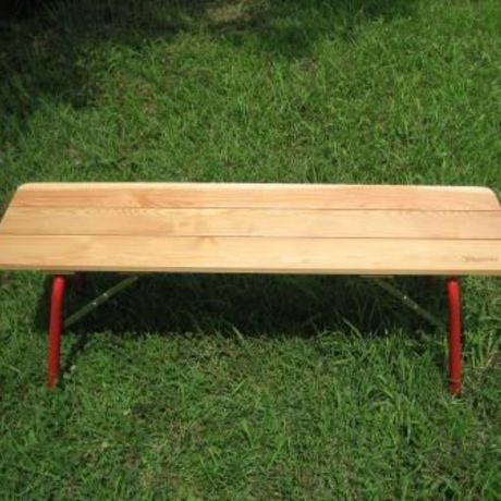 No.008S Foldable Larch Wood Bench W120cm (キャリーバッグ付き)