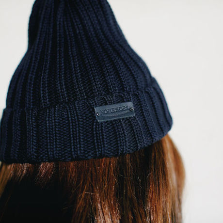 RAD BLACK CULT rib knit cap black
