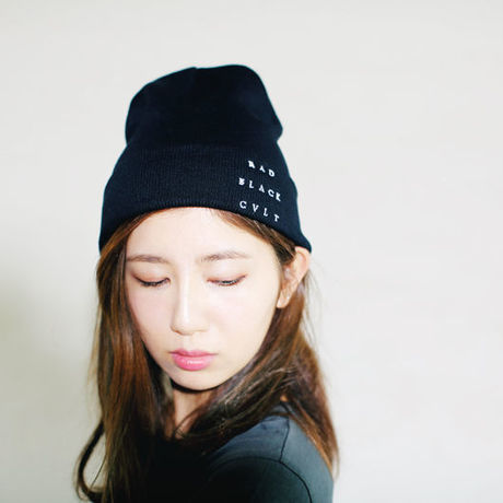 RAD BLACK CULT knit cap black