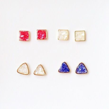 triangle、square ピアス