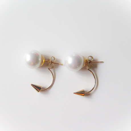 pearl×studs pierce
