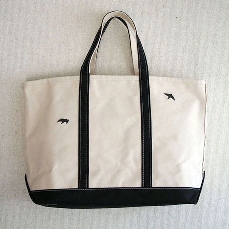birds bean tote L _No.121