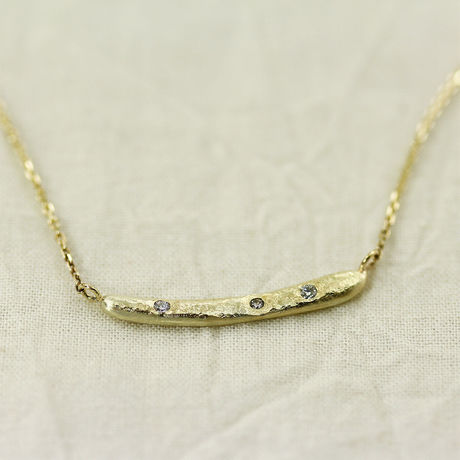 【Stick】 K10  Diamond Pendant