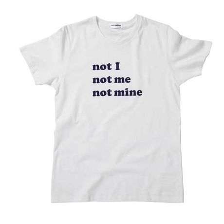 【SALE】 I ME MINE not mine logo tee - White