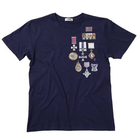 【SALE】 Pete's Medal Tee - Navy