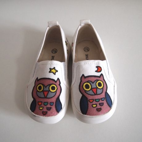 Kids shoes フクロウ 送料込